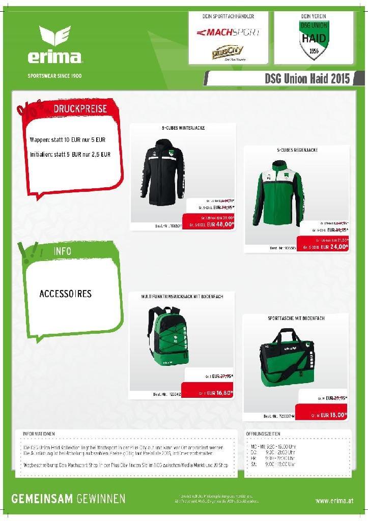 Ausrüstung ErimaMach Sport Pressemitteilung DSG Union
